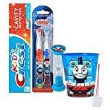 ''Thomas The Train'' Inspired 5pc Bright Smile Oral Hygiene Set! Thomas & Friends 2pk Soft Manual Toothbrush, Toothpaste, Brushing Timer & Mouthwash Rinse Cup! Plus Bonus ''Remember To Brush'' Visual Aid!
