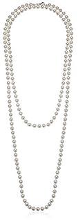 "Amazon Essentials Cream Colored Simulated Pearl Strand Necklace (8mm), 60"" (B004ARVMXS)   Amazon Products"