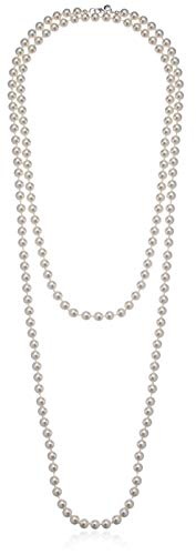 Amazon Essentials Cream Colored Simulated Pearl Strand Necklace (8mm), 60