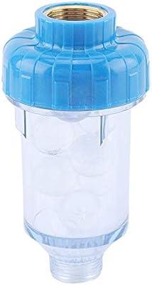 ViaGasaFamido Filtro Purga de Agua Purificador de Agua Fosfato de Silicio Cristal Grifo Accesorios Lavadora Cobre Frontal Filtro Limpiador de Grifo de Agua Solar: Amazon.es: Hogar