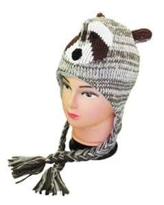 Outer Rebel Fashion Knit Animal Hat- Raccoon