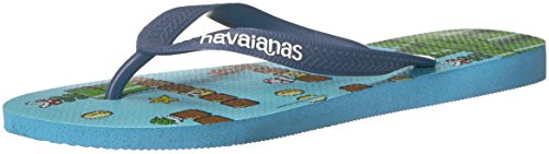 Havaianas Mens Mario Bros Sandal Blue Splash Blue Splash