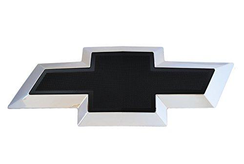 Black Textured Bowtie Emblem Fits 2007-2013 Chevrolet Silverado 1500 Front Grill