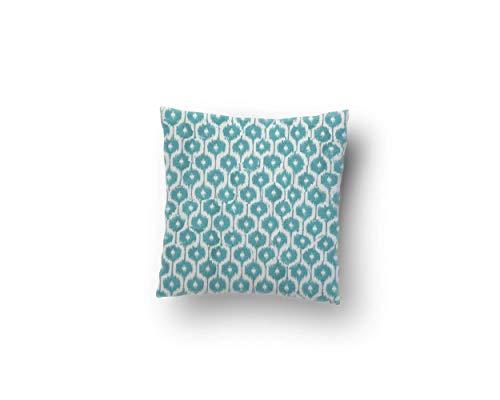 Capri Pillowcases - Canvas Square Throw Pillow Case in Quail Capri (Multiple Sizes Available)