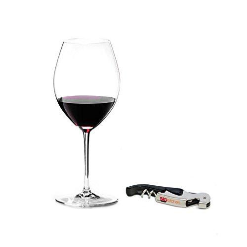 Riedel Sommeliers Leaded Crystal Hermitage/Syrah Wine Glass with Bonus BigKitchen Waiter's Corkscrew ()