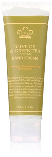 - Nubian Heritage Hand Cream, Olive and Green Tea, 4 Ounce