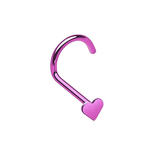 Colorline Heart Nose Screw Ring