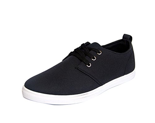 Plimsolls Men Canvas lace Flat up Fashion AuthenticTrainer Sneakers Casual Shoes Black qZpxftSqr