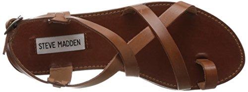 Steve Madden Women's Agathist Sandal Cognac Leather bXSZScqpB