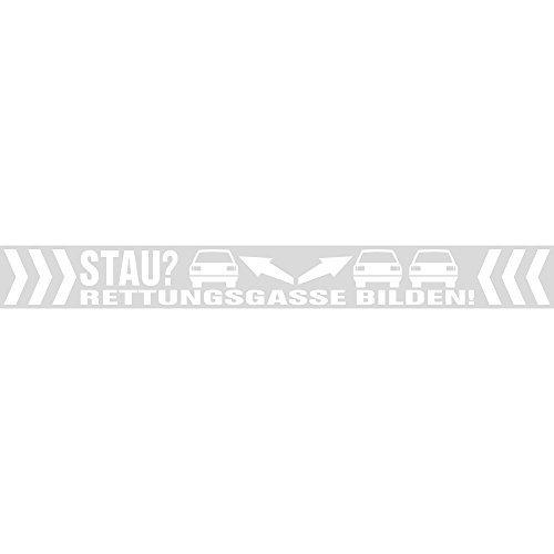 PVC-Aufkleber transparent - STAU ? Rettungsgasse bilden ! - 302063/2 - Gr. ca. 70cm x 8cm HSK
