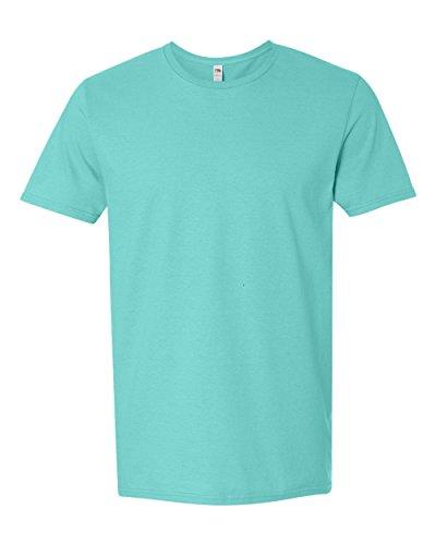 Fruit of the Loom Adult 4.7 oz. Sofspun« Jersey Crew T-Shirt-Scuba Blue-XL