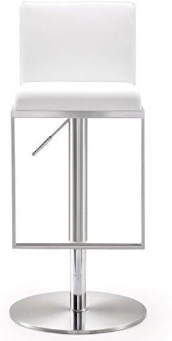Tov Furniture Amalfi Collection Modern Industrial Height Adjustable Metal Kitchen Swivel Barstool