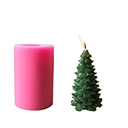 Homankit Silicone Christmas Pine Tree Candle Molds
