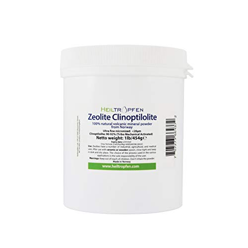 Zeolite Powder 1 Pound – 454 g | Ultra FINE | Less-Than 20 µm | Clinoptilolite 90-92% | Activated | Natural Mineral Dust…