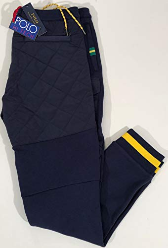 Ralph Lauren Polo Men's HI TECH Navy Performance Cargo Sweatpants W/Quilting