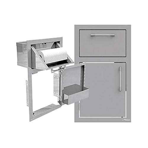 Alfresco Door and Towel Holder Combo (Axe-DTH-R-SC), Right Hinged, 17-Inch