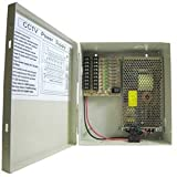 InstallerParts DC12V 12Amps 9-Port Power Supply Box (UL)