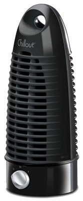 Kaz ChillOut Mini Tower Fan, Black