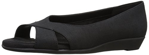 Aerosoles Women's Silver Platter Flat - Black Fabric - 6....