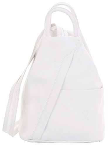 Branded White Primo Rucksack Shoulder Italian Includes Sacchi Soft Protective Bag Napa Handle Leather Top Bag Storage Backpack qTFq7