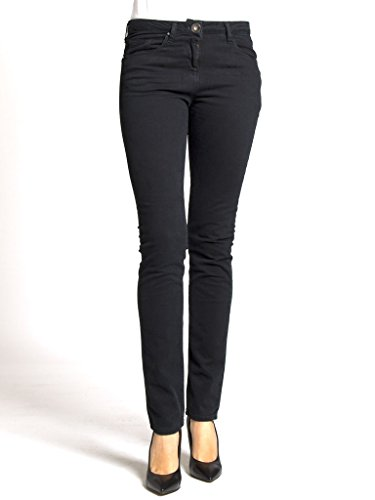 unita gabardina Carrera regular 899 dritto 752 vestibilità tinta tessuto Pantalone normale Nero per vita Jeans modello donna g6g8qFvr