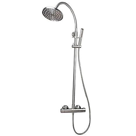 Ducha de acero inoxidable con ducha de mano: Amazon.es ...
