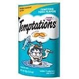 Whiskas Temptations Cat Treats Tempting Tuna Flavor 3 Bags Tartar Control Treats, My Pet Supplies