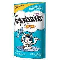 Whiskas Temptations Cat Treats Tempting Tuna Flavor 6 Bags Tartar Control Treats, My Pet Supplies