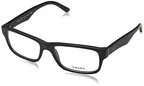 Prada Eyeglass Frames PR16MV 1BO1O1-55 - Matte Black ()