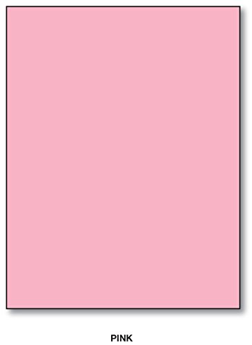 "Color Card Stock Paper, 8.5"" x 11"", 50 Sheets Per Pack - Pink"