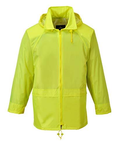 Portwest - Mens Classic Rain Jacket, Waterproof Workwear (US440) (5XL (Chest 60-64in), Yellow)