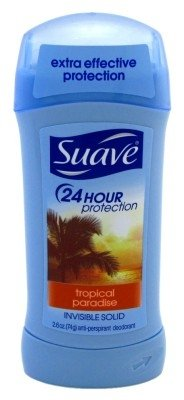 Suave 24 Hour Protection Invisible Solid Deodorant for Women, Tropical Paradise - 2.6 oz - 3 (Best Suave Womans Deodorants)