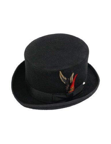 - New 100% Wool Black Top Hat