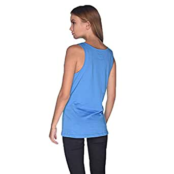 Creo Bikers Born To Ride Tank Top For Women - M, Blue