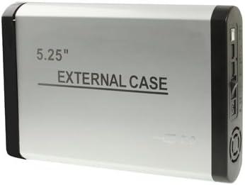 Wewoo Caja Disco Duro 5,25 Pulgadas IDE USB 2.0 HDD Cubierta Externo con Alimentación 2.0 A Plata: Amazon.es: Electrónica