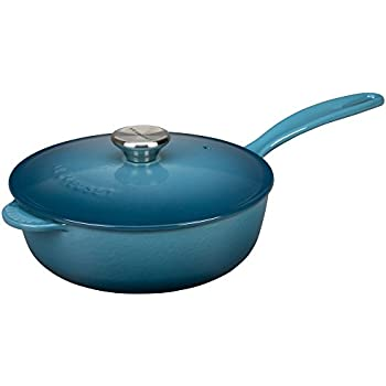 Le Creuset Enameled Cast-Iron 2-1/4-Quart Saucier Pan, Marine