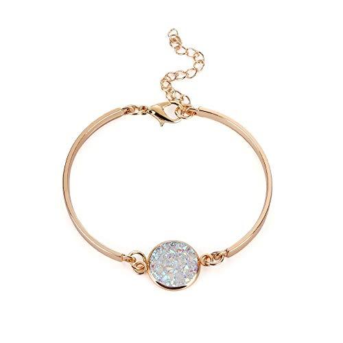 Pc Braclts Bijoux Lunette Druzy À Grand Pierre Femme Nature Bracelets Ton Main Réglage F Étincelant 1 La Mode Bracelet wPrqPgE