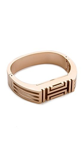 92ab96962caf Image Unavailable. Image not available for. Color  Tory Burch for Fitbit  GOLD Metal Hinged Bracelet for Fitbit Flex 2