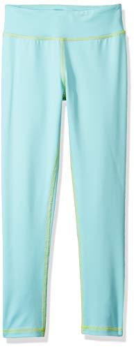Amazon Essentials Big Girls' Full-Length Active Legging, Aqua, M (Teens Leggings)