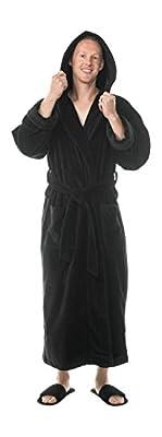 Comfy Robes Men's Terry Velour Hooded Bathrobe