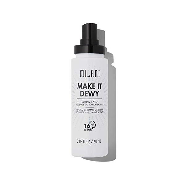 Milani Make It Dewy Setting Spray 3 in 1- Hydrate + Illuminate + Set (2.03 Fl. Oz.) Makeup Finishing Spray – Makeup…