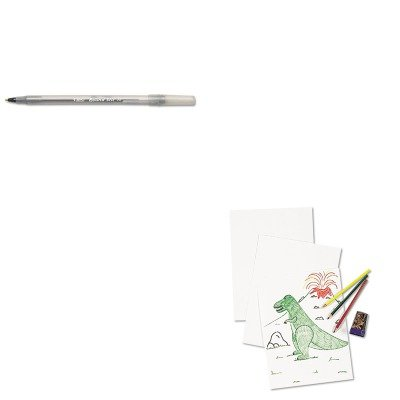 KITBICGSM11BKPAC4818 - Value Kit - Pacon White Drawing Paper (PAC4818) and BIC Round Stic Ballpoint Stick Pen (BICGSM11BK)