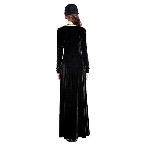 Hibote Kleider Damen Vintage Retro Kleid VAusschnitt Samt Kleider ...