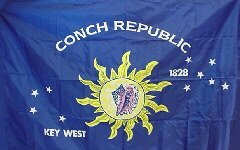 3x5 Key West Conch Republic Sewn Solarmax Nylon 210D Flag 3'x5' Banner Gift Set