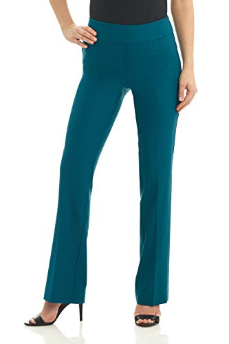 Rekucci Women's Ease In To Comfort Boot Cut Pant (6,Teal)