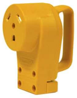 Camco 55343 30 AMP Female Replacement Receptacle - Pull Plug