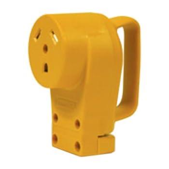 amazon com camco 55353 50 amp female replacement receptacle camco 55343 30 amp female replacement receptacle