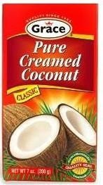 - Grace Coconut Cream - Net Wt. 6 oz