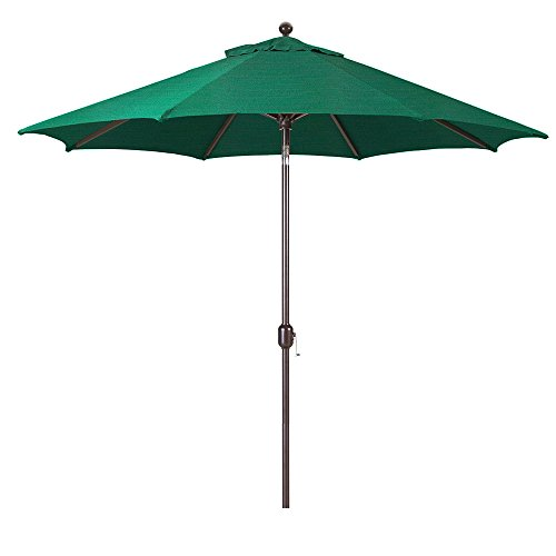 Galtech 9-Foot (Model 737) Deluxe Auto-Tilt Umbrella with Antique Bronze Frame and Sunbrella Fabric Forest Green (Includes Extended Frame Warrantee) from Galtech