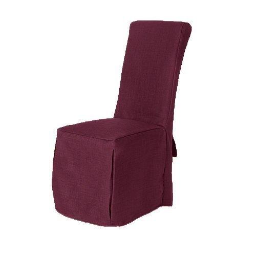 Plum Linen Look Fabric Upholstered Slipcovers for Scroll ...